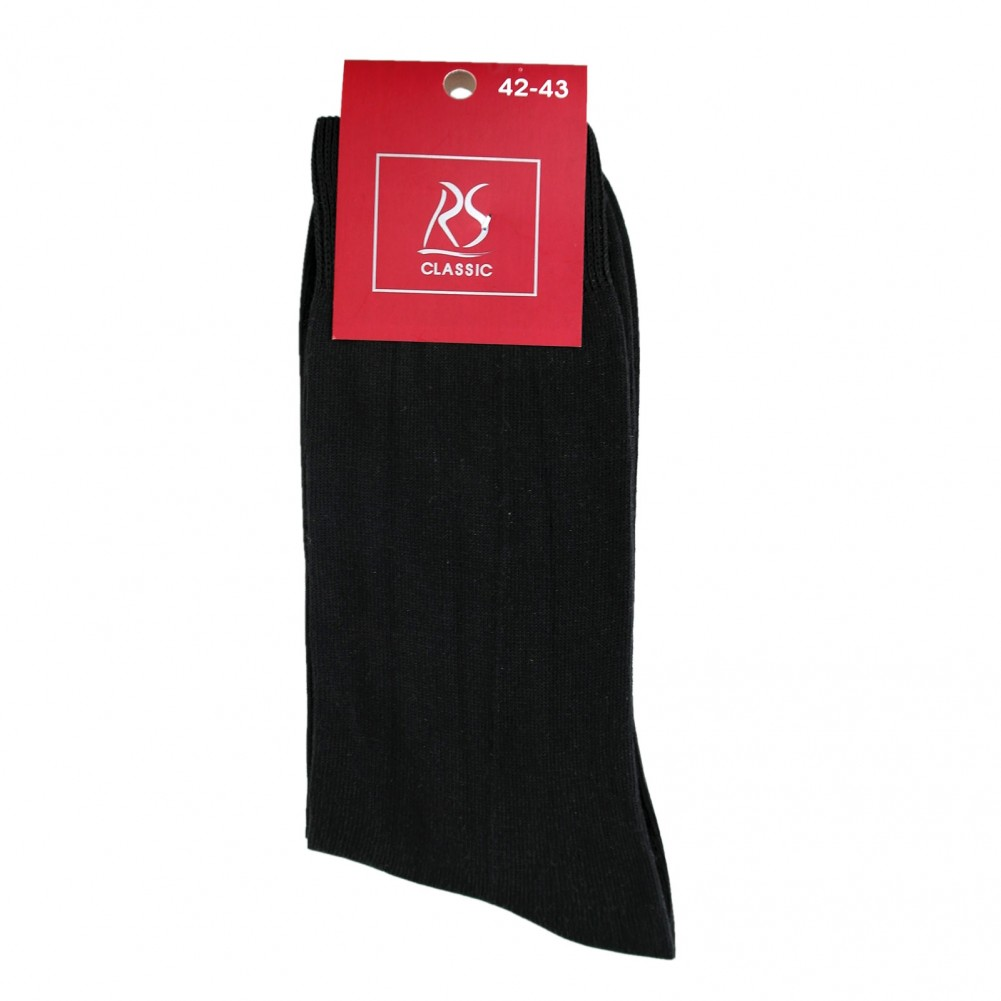 Classic Cotton Herrensocken in schwarz