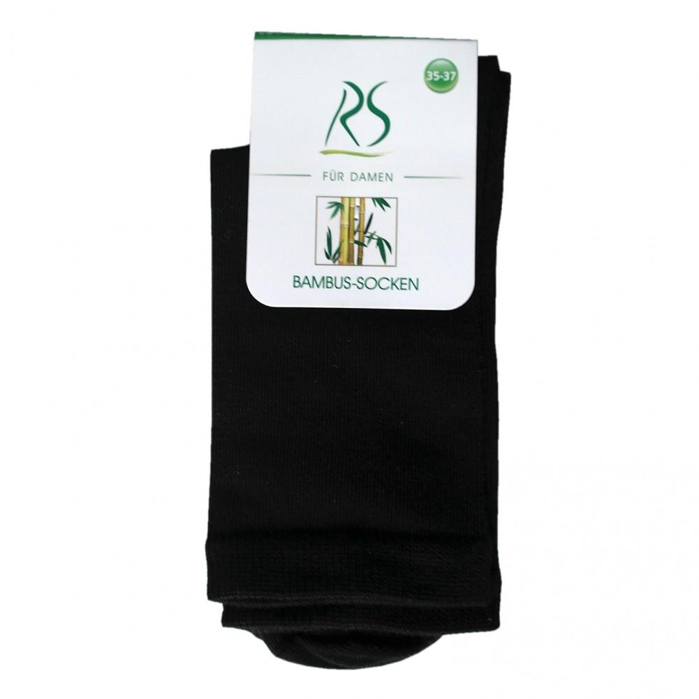 10 Paar Ladies Bamboo Socks Socken aus Bambusfarsern für Damen schwarz