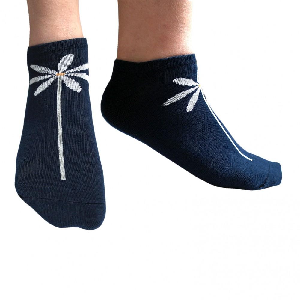 Damen Sneakersocken 10 Paar Dunkelblau