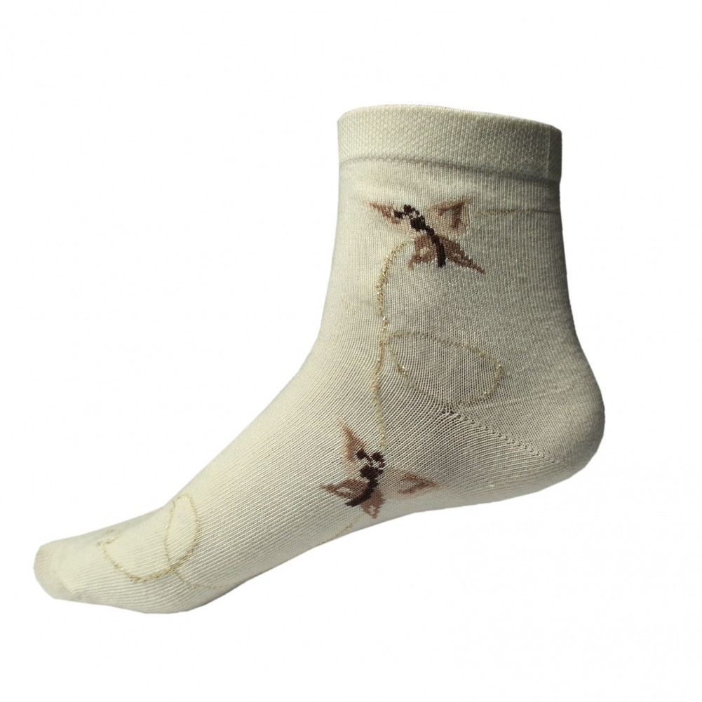 10 Paar RS Damen Kurzsocken in Modefarben in Beige