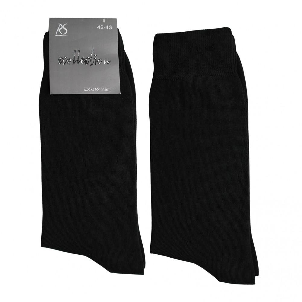 PASSA Herrensocken aus 100% Baumwolle in schwarz