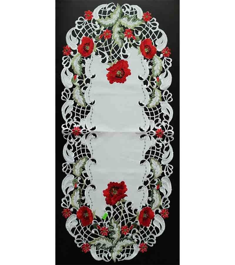 Tischbänder mit bunten Blumen 40x90