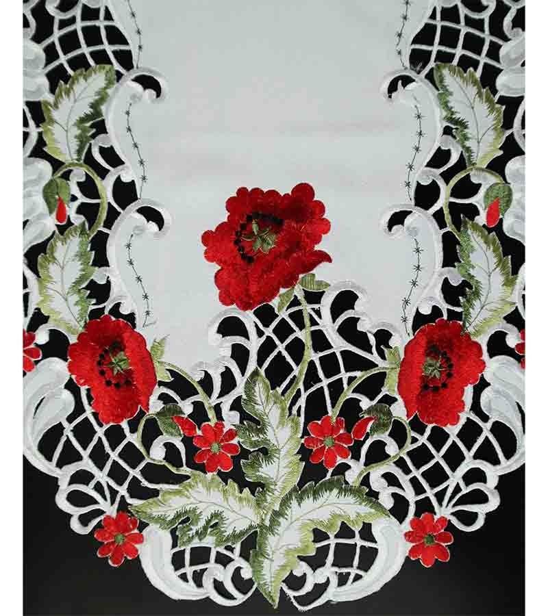 Tischläufer mit bunten Blumen 30x160