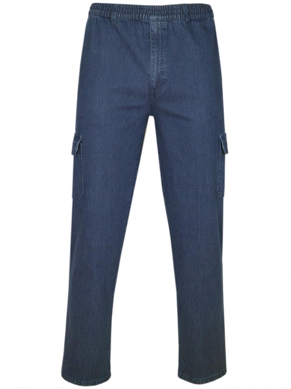 Elastische Jeans Schlupfhosen bequeme Schlupfjeans Herbst-Winter-Kollektion-Blue