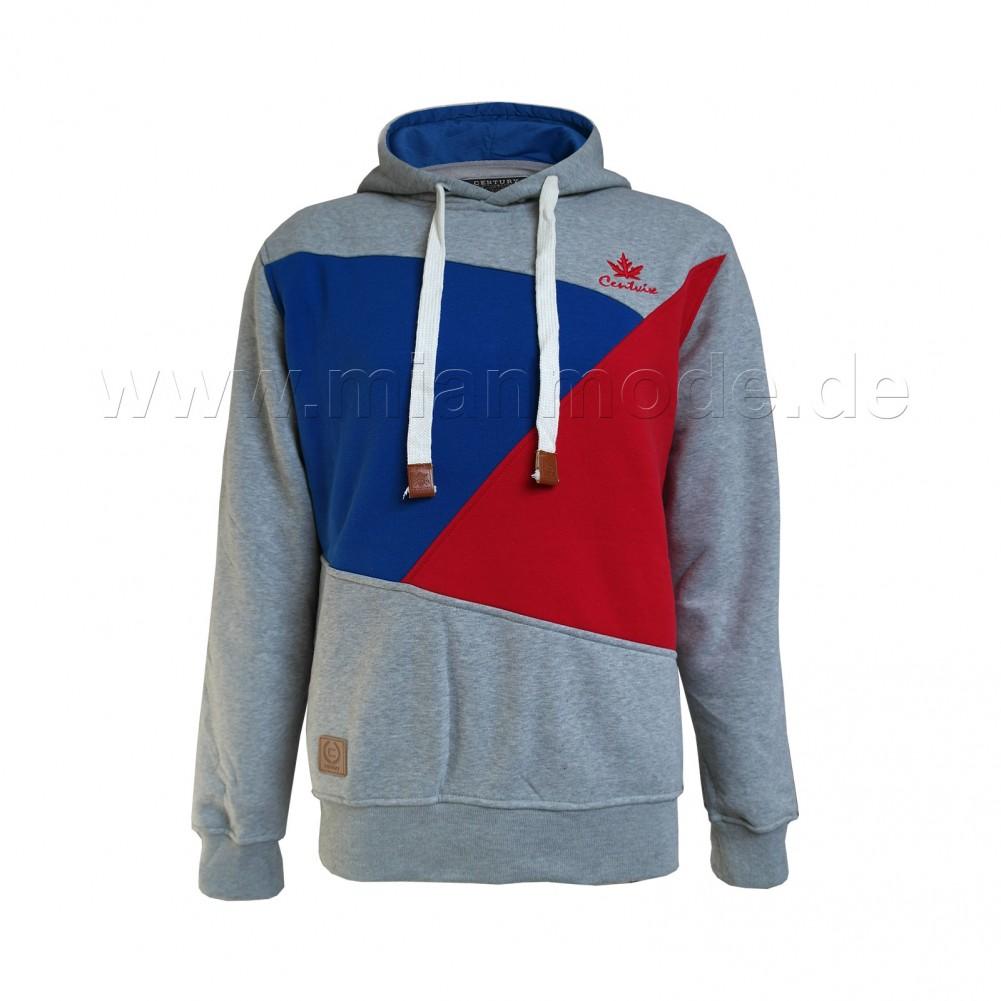Sweatshirts Kapuzenpullis Pullover mit Ellenbogen Patches - hellgrau
