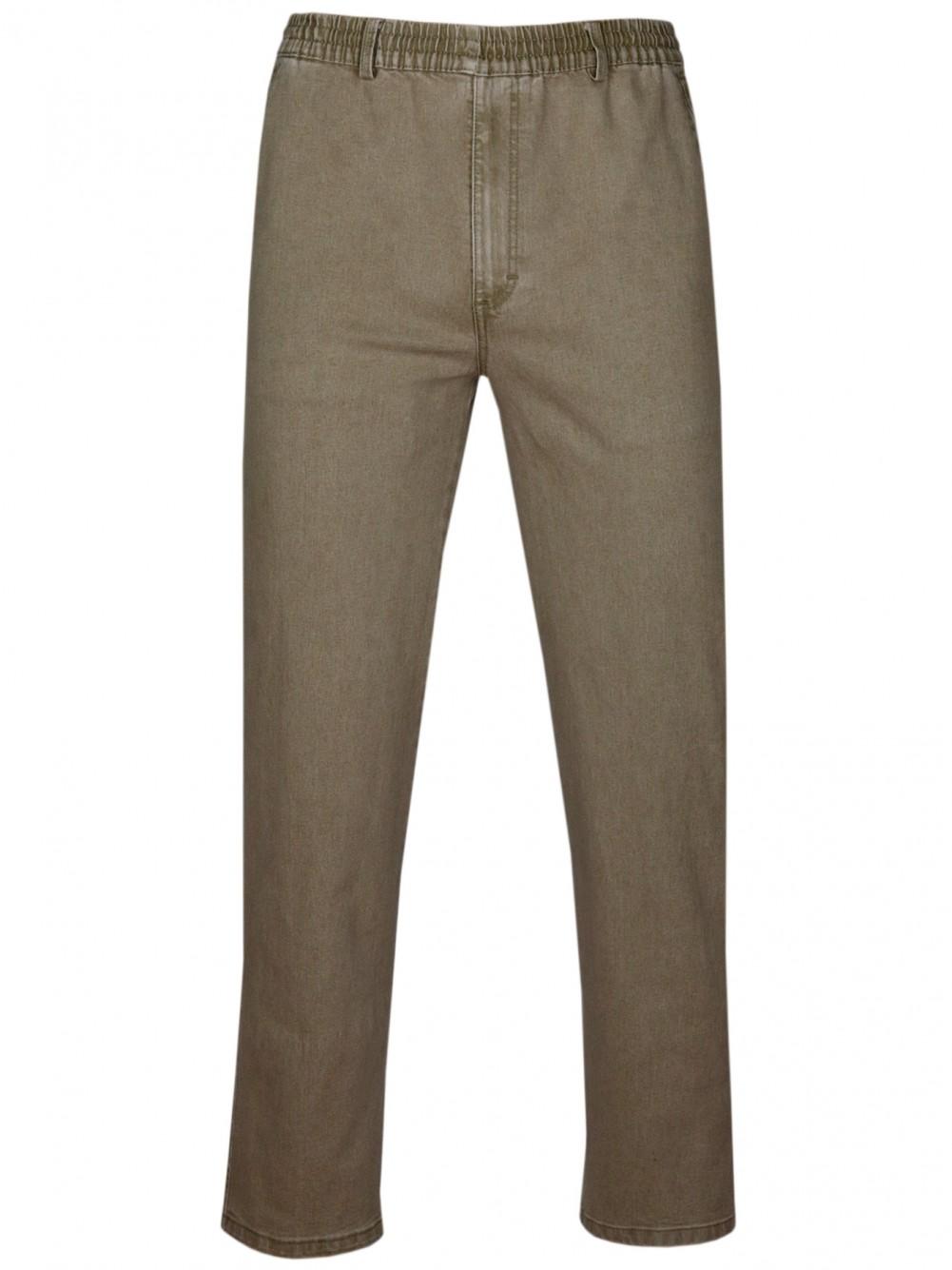 Stretch Jeans Schlupfhose ohne Cargotaschen Herbst-Kollektion - Camel