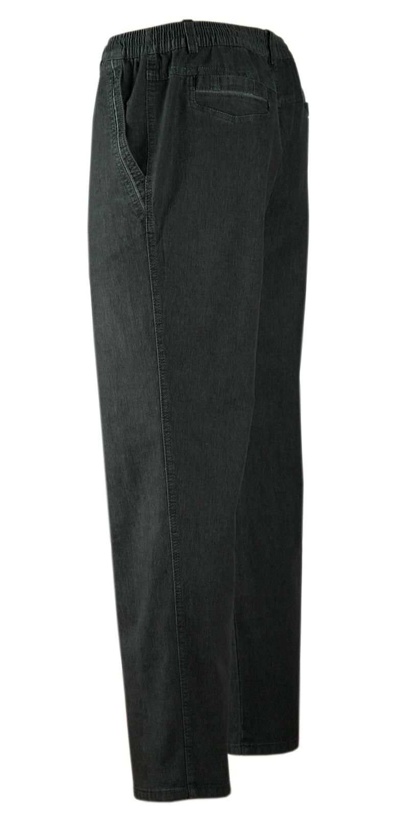 Herren Jeans Stretch Schlupfhose Schlupfjeans ohne Cargo-Taschen schwarz
