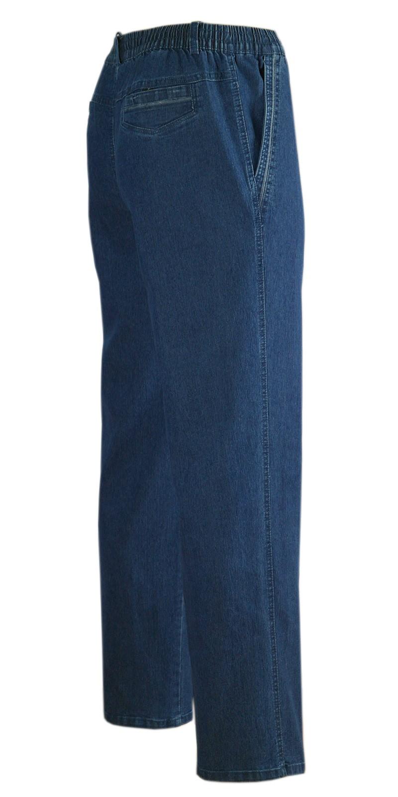 Herren Jeans Stretch Schlupfhose Schlupfjeans ohne Cargo-Taschen blue