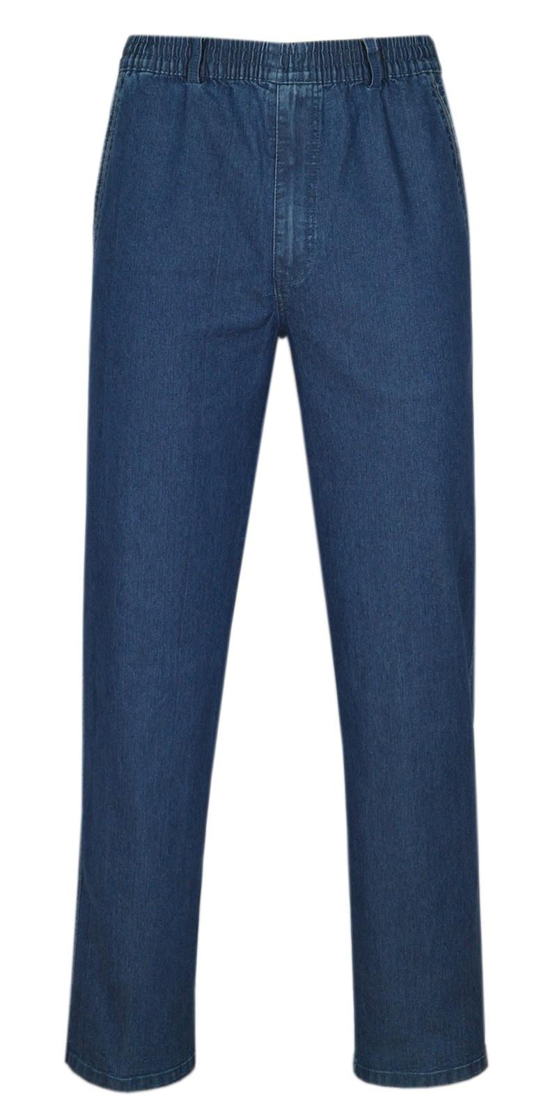 erren Jeans Stretch Schlupfhose Schlupfjeans ohne Cargo-Taschen blue/frontansicht