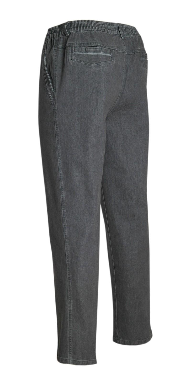 Herren Jeans Stretch Schlupfhose Schlupfjeans ohne Cargo-Taschen grau