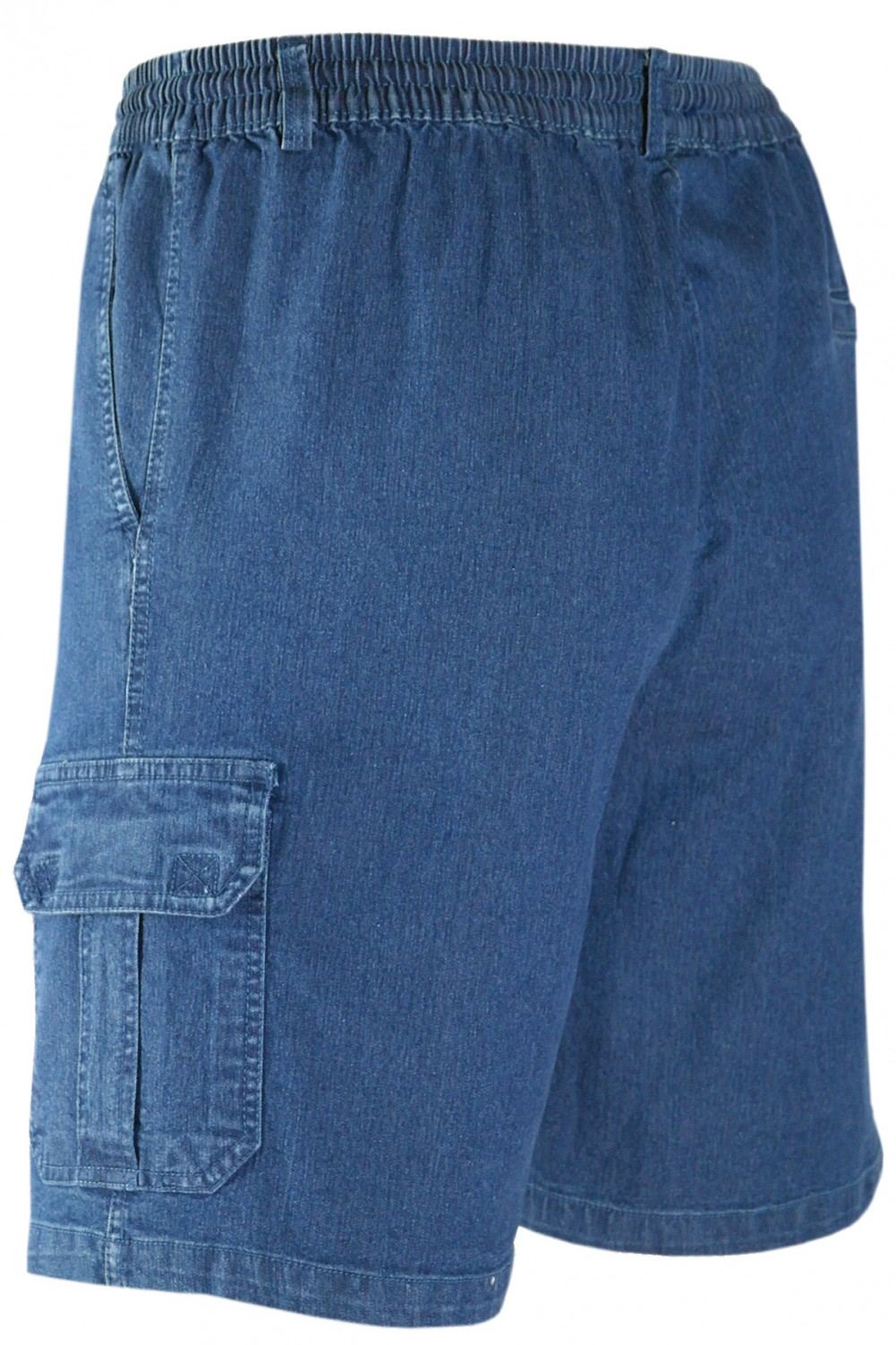 Herren Schlupf-Jeans Shorts kurze Hose aus Stretch Baumwolle - Blue