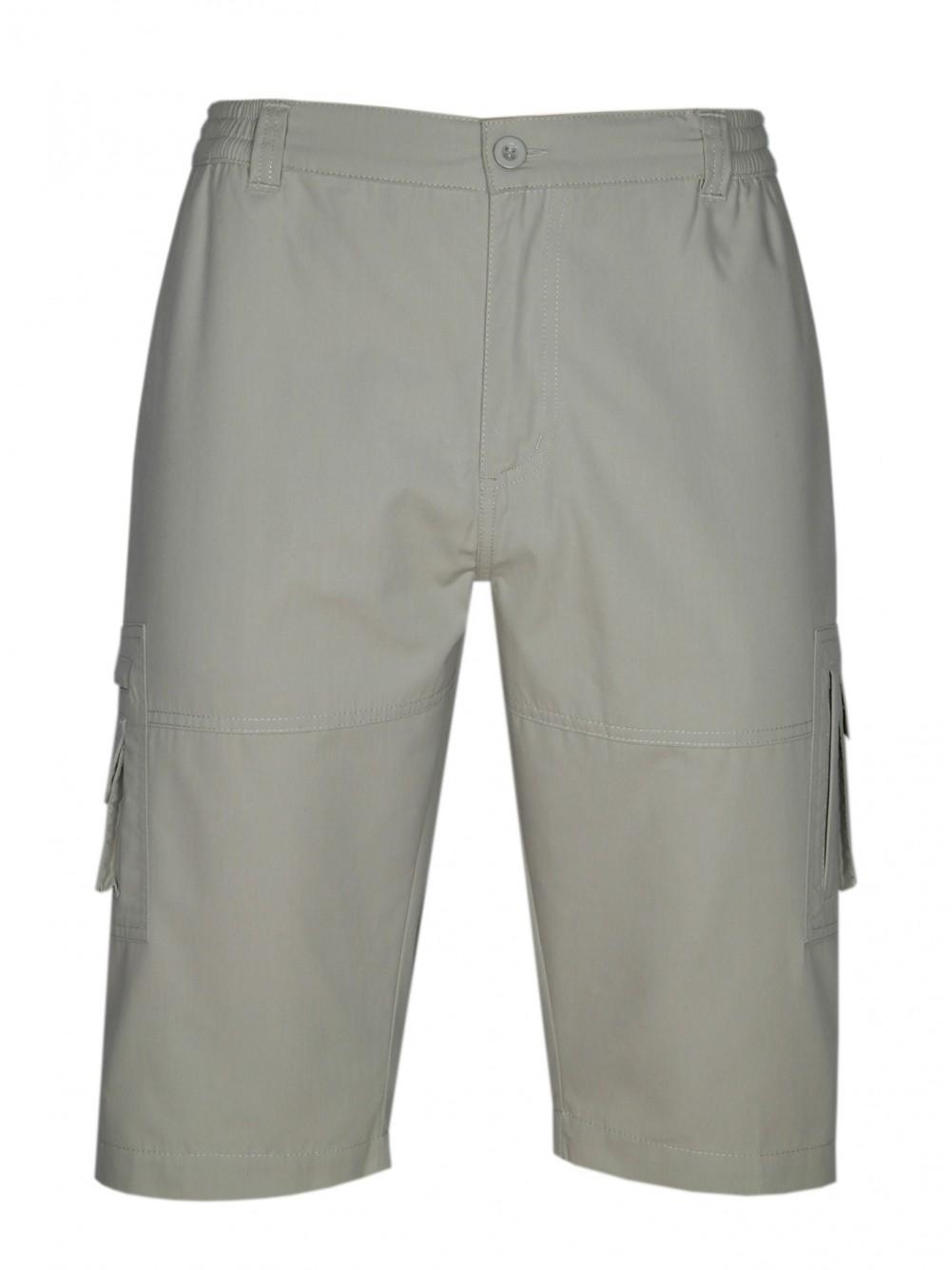 Baumwoll Trekkingshorts, kurze Hose Herren - Beige