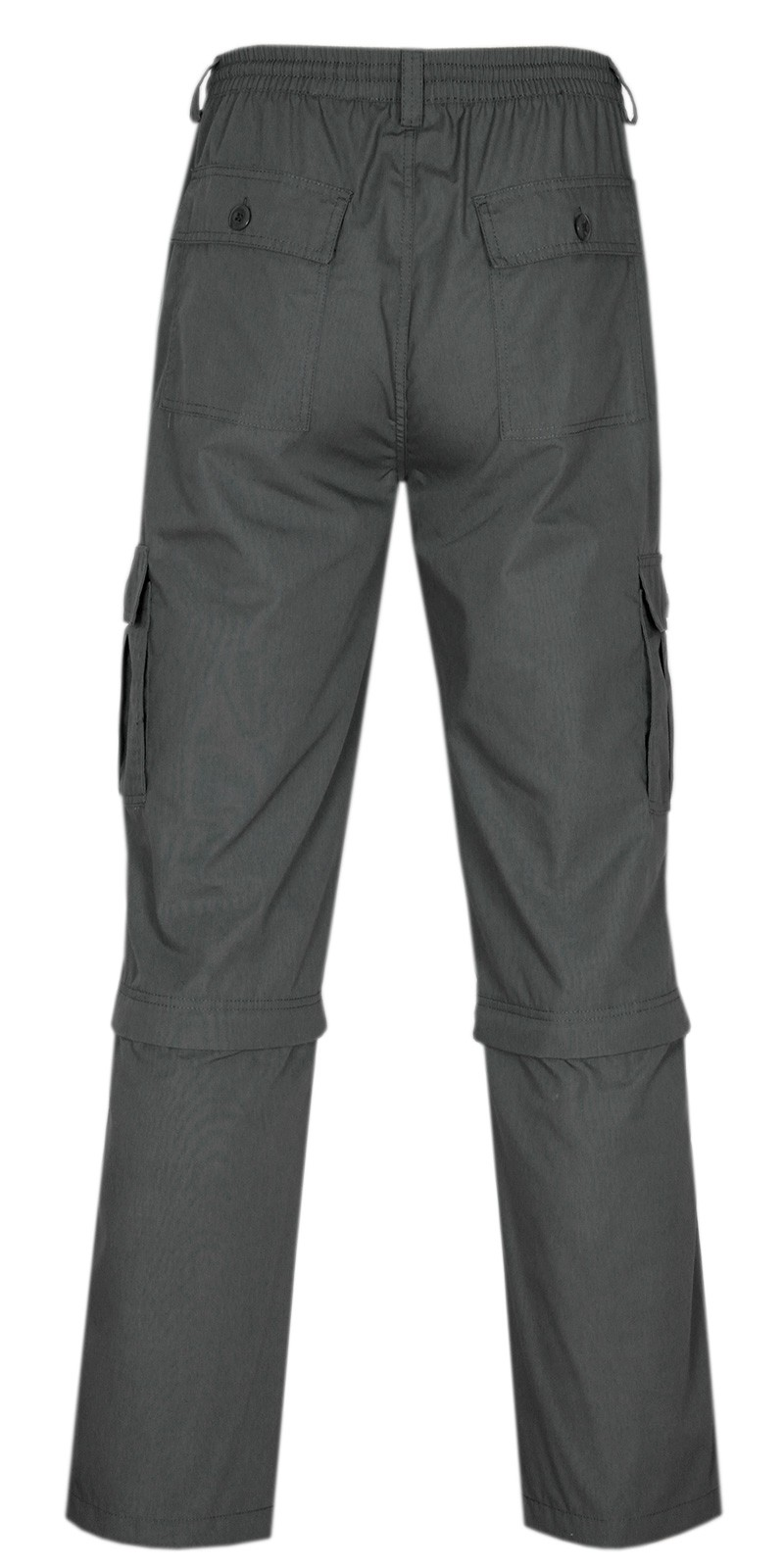 Herren Cargo Hose Zip Off - Anthrazit