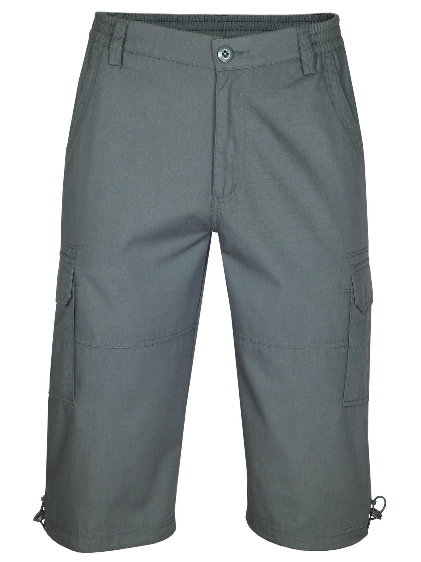Cargo-Bermudas, Cargo Shorts, kurze Hose für Herren - Anthrazit