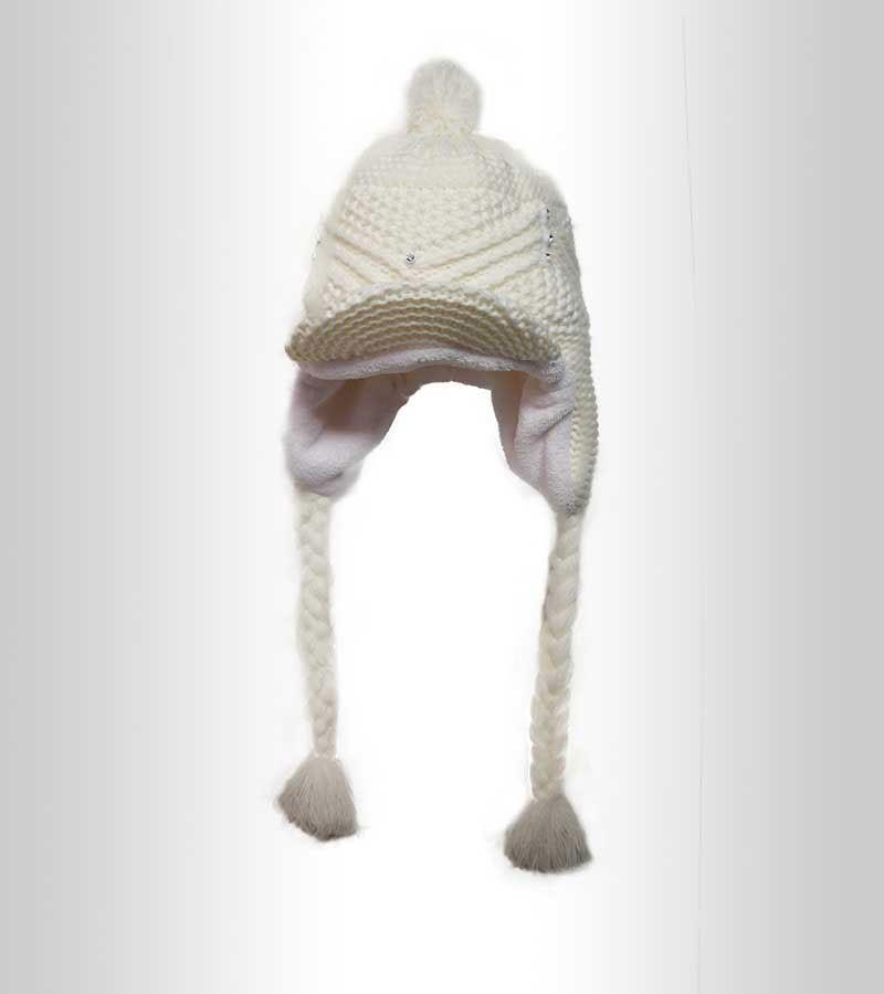 Schirmmütze mit Ohrenschutz - weiss