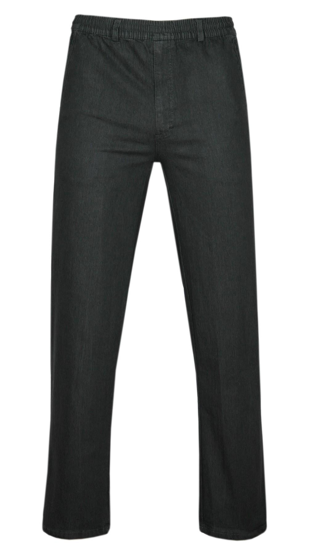 Stretch Jeans Schlupfhose ohne Cargotaschen Herbst-Kollektion - schwarz