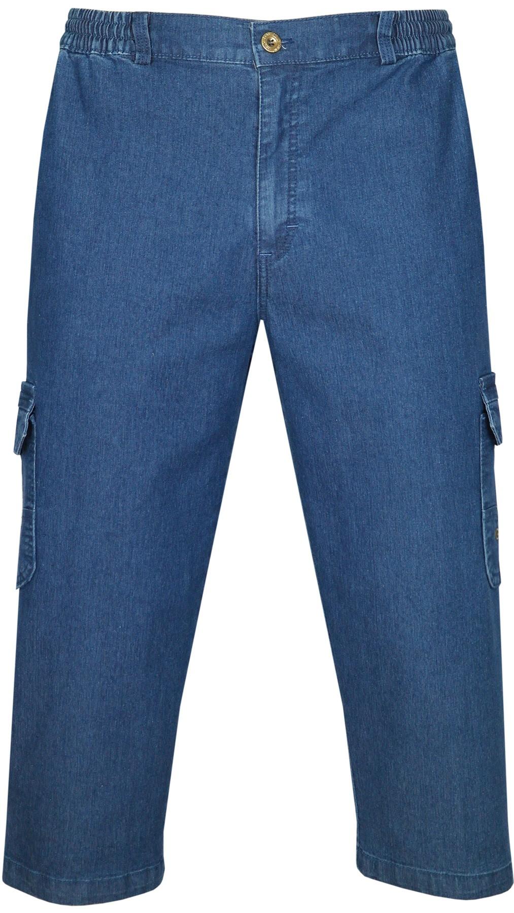 Herren Stretch Jeans Bermudas mit Dehnbund - Blue