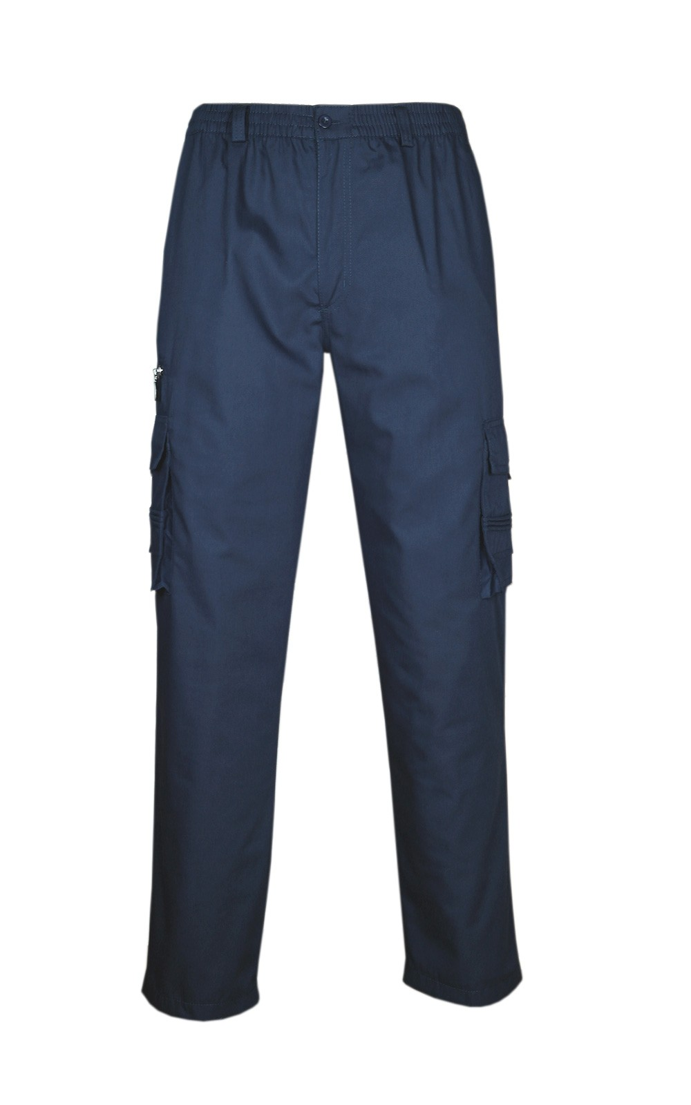 Gefütterte Fleece Cargohose, Winterhose, Warme Thermohose navy