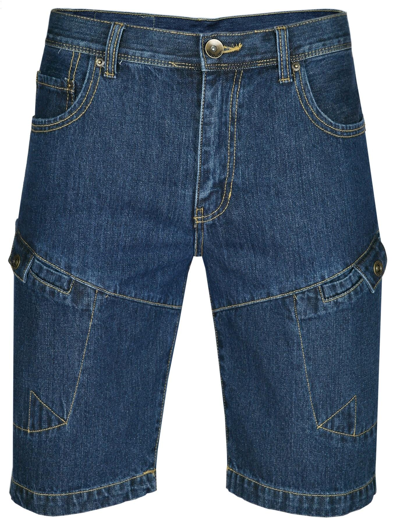 MIAN Denim Herren Shorts Jeans-Shorts 100% Baumwolle DarkBlue