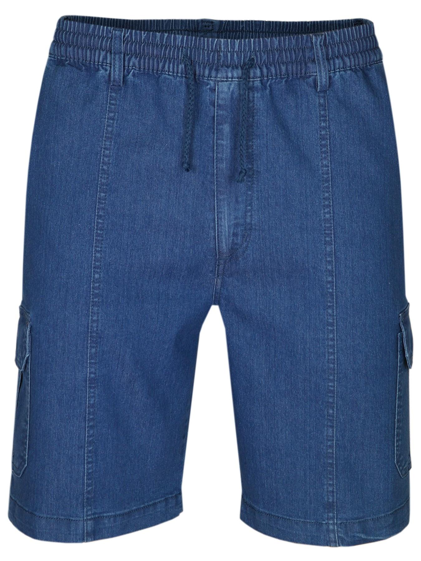 Herren Stretch Jeans-Shorts mit Schlupfbund - Blue