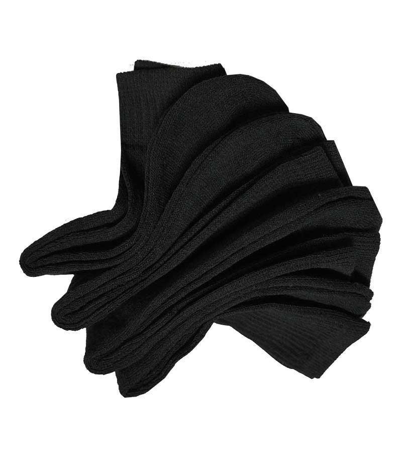 Freizeit- Sportsocken in schwarz 43-46