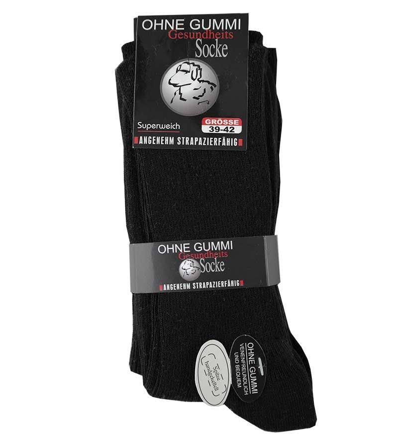 Schwarze Socken ohne Gummi