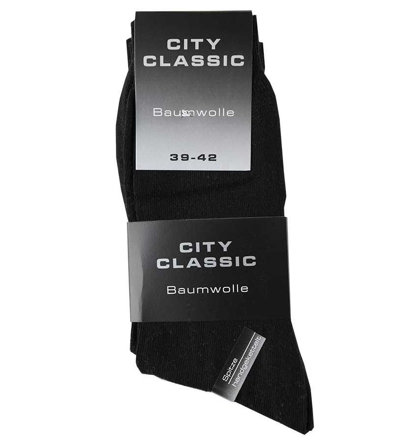 Schwarze Socken für Herren 39-42