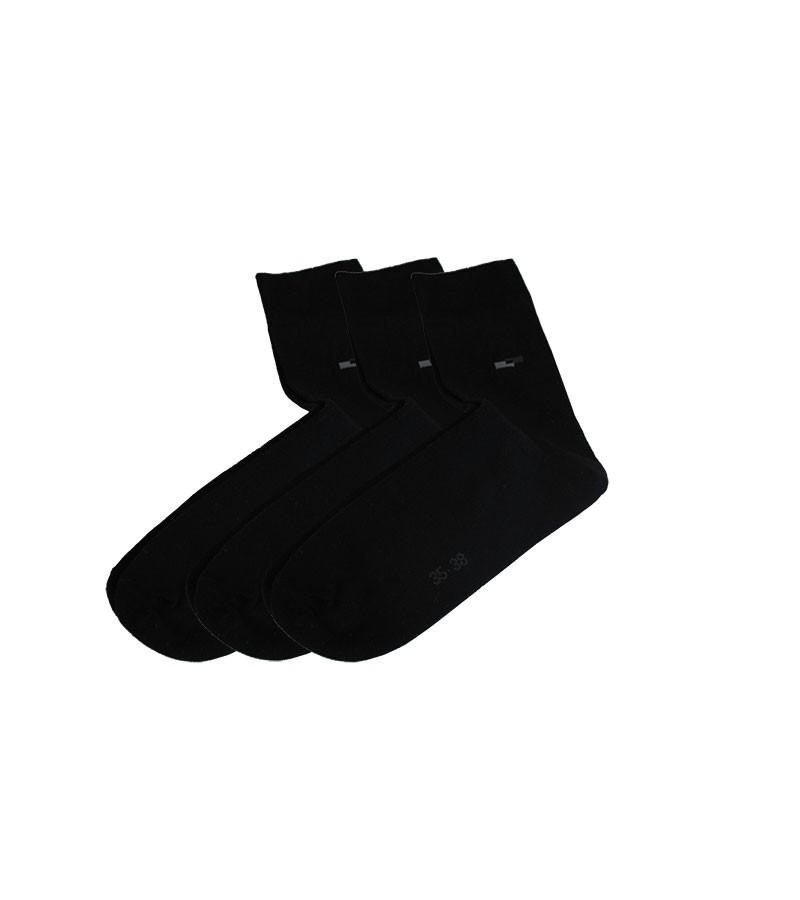 Antibakterielle Socken für Frauen 3 Paar in schwarz