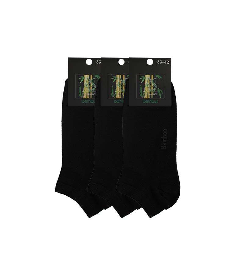 Bambus Sneaker Socken fuer Heren 3 Paaar