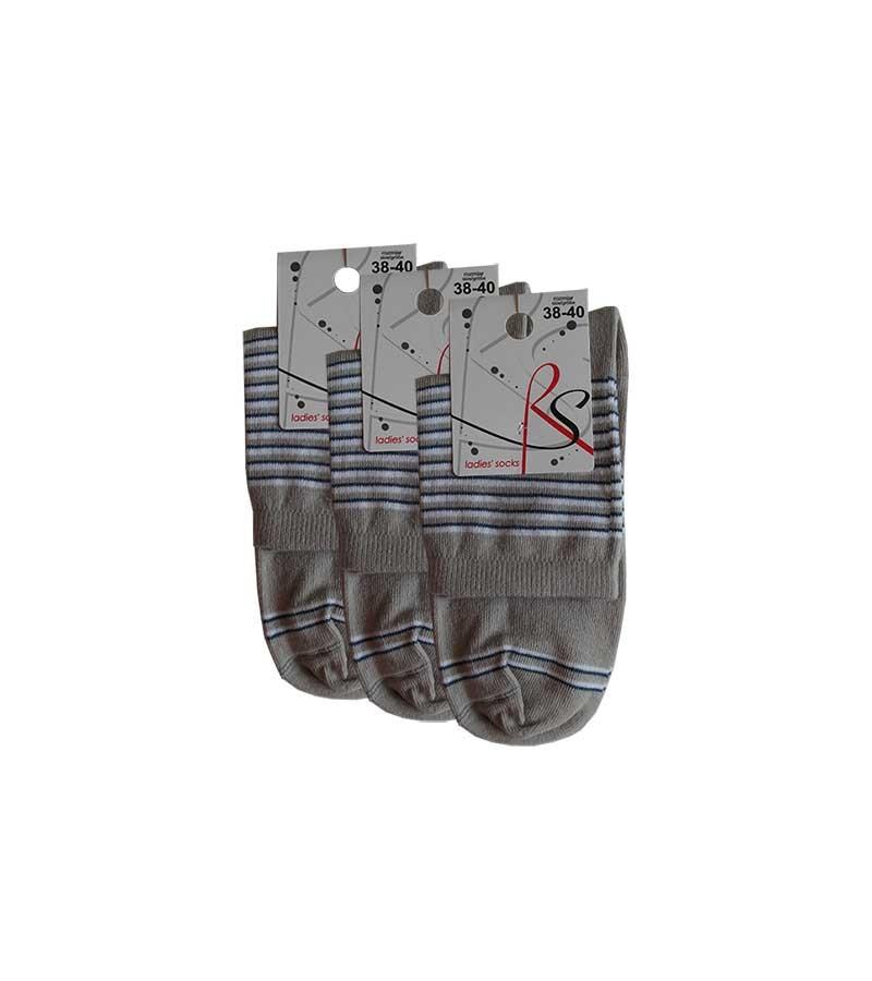 Geringelte Socken Damen 3 Paar 38-40