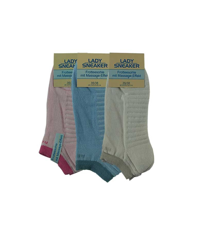 Damen Sneaker Socken mit Massage-Effekt