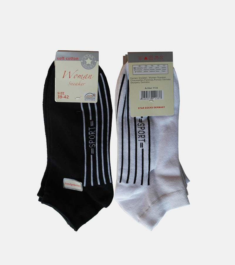 Damen Sneakersocken Soft Cotton