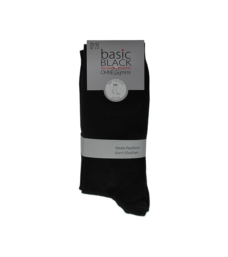 Damensocken in Basic Black ohne Gummi