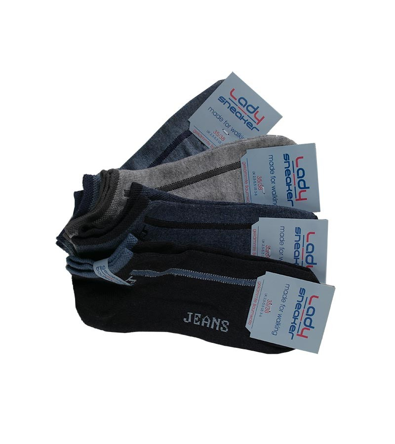 Lady - Jeans Sneakersocken Damen