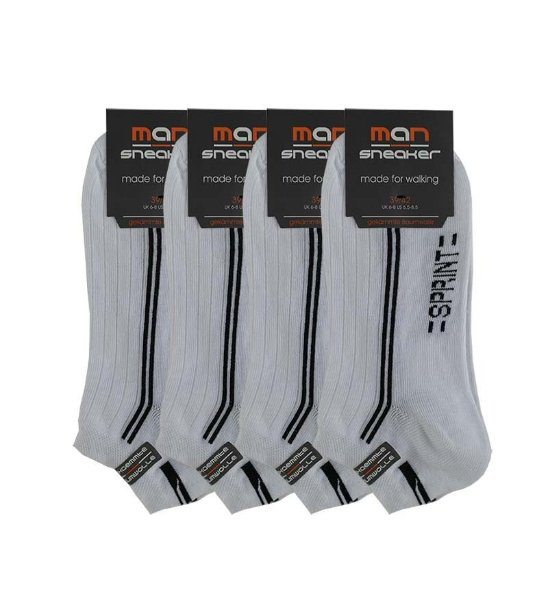 MAN-Sneaker Socken-SPRINT in weiss 5 Paar