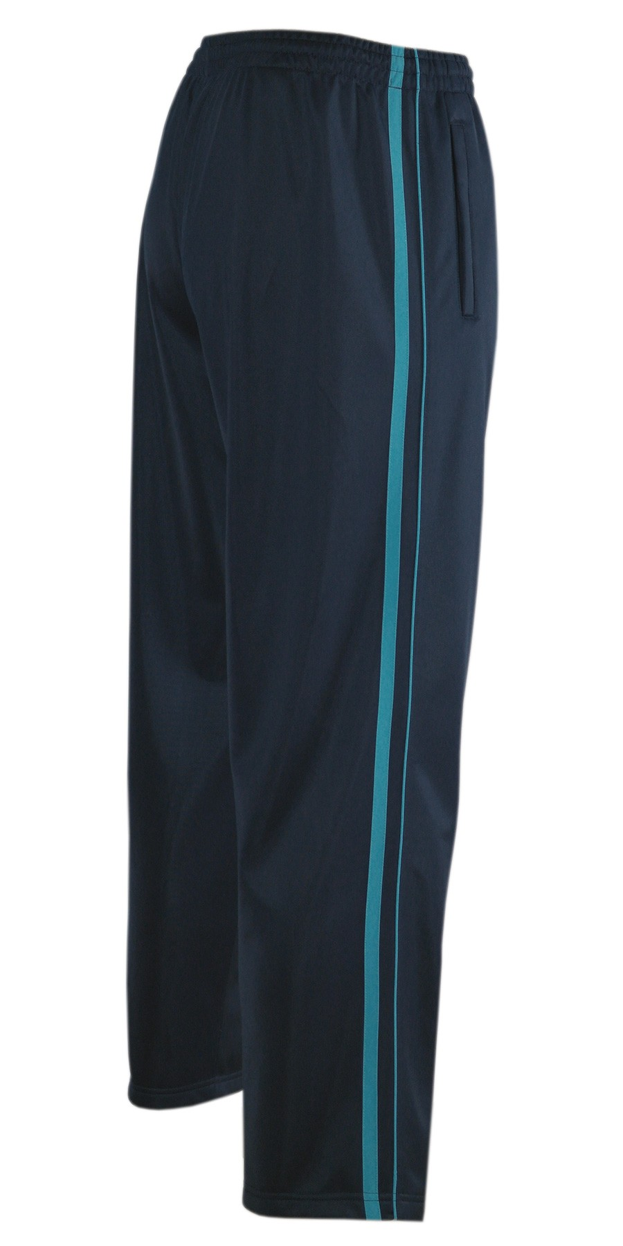 Jogginghose, Sport- Freizeithose offener Saum K-Größen - Navy/türkis