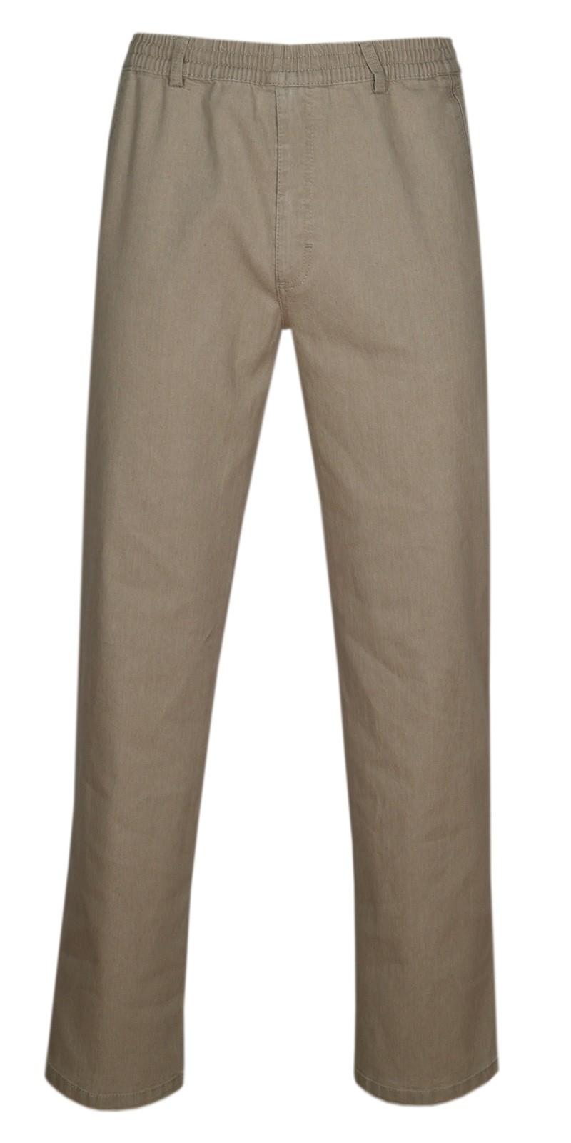 Herren Jeans Stretch Schlupfhose Schlupfjeans ohne Cargo-Taschen beige