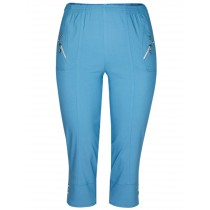Damen Stretch-Capri Shorts - LightBlue