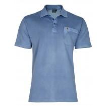 Poloshirt Piqué-Polo aus Baumwoll-Stretch - Blue