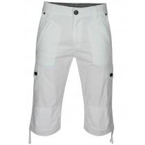 Herren Cargo-Bermudas in Capri Jeans-Style 100% Baumwolle - Weiss