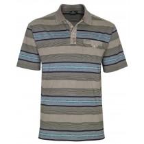 Herren Premium Poloshirts mit kurzer Knopfleiste - Camel