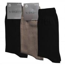 PASSA Herrensocken aus 100% Baumwolle in schwarz oder beige