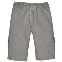 Herren Schlupf-Jeans Shorts kurze Hose aus Stretch Baumwolle - Beige