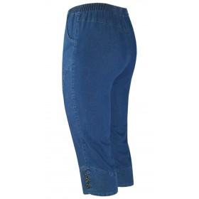 Damen Caprihose Stretch Capri-Jeans mit Schlupfbund