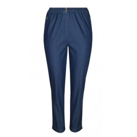 Damen Thermo Stretch Schlupfjeans Schlupfhose gefütterte Winter-Jeans in K-Größe