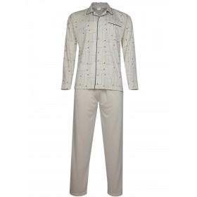 Herren Pyjama langer Schlafanzug in Jersey Qualität