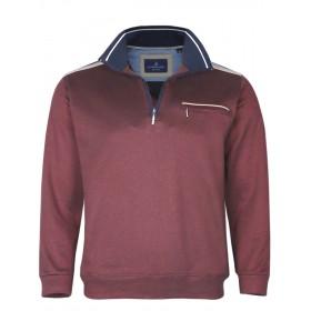 Herren Baumwoll-Piqué Polo-Shirt in Blouson-Form