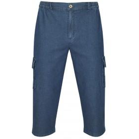 Herren Shorts Stretch Jeans Bermudas mit Dehnbund