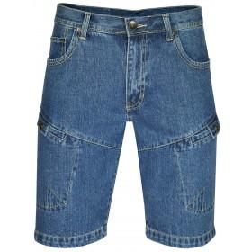 MIAN Denim Herren Shorts Jeans-Shorts 100% Baumwolle