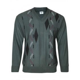 V-Ausschnitt-Pullover Langarm Herren Pullover